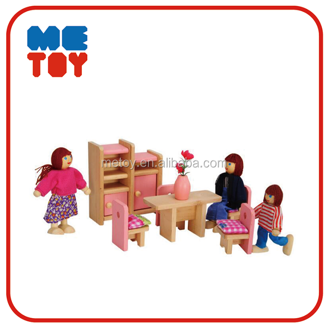 Kids wooden miniature dollhouse furniture