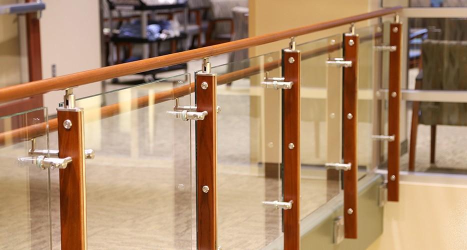 Steel Pipe Stair Aluminium Handrail Bracket