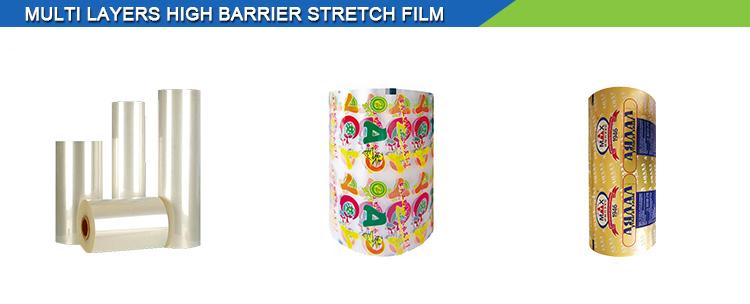 Yüksek kaliteli özelleştirilmiş baskılı lamine malzeme gıda ambalaj rulo film pet metalize film