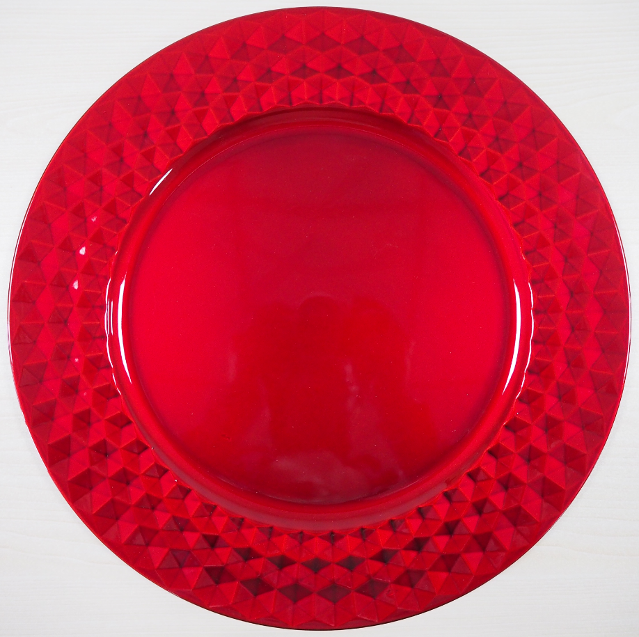 Red Plastic Charger Plates Wholesale Red Plastic Charger Plates