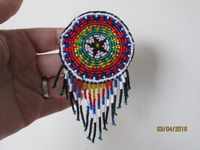 Native american beaded rosettes strips headbands — photo 9