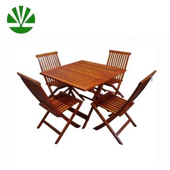Tavolo E Sedie Da Giardino In Legno.Wg 5s 82 Mobili Da Giardino In Legno Pieghevoli Tavolo E Sedie