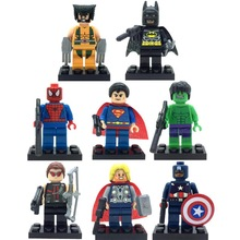8pcs/lot Super Hero Superheroes Kid Baby Toy Mini Figure Building Blocks Sets Model Toys Minifigures Brick compatible