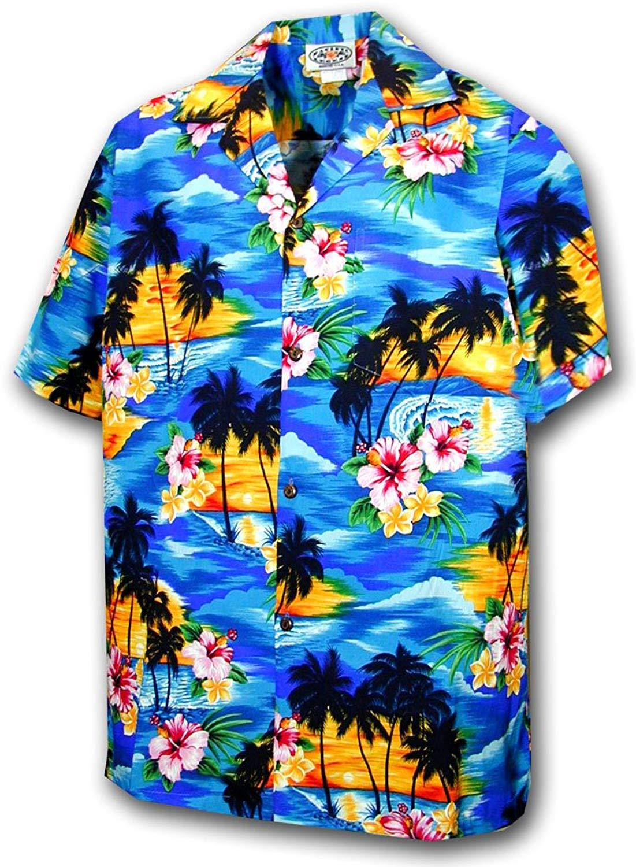 RJC Mens Hawaiian Santa More Beach Fun Shirt