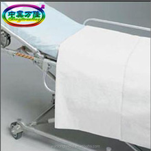 cotton bed sheets single, double flat for hotel, hospital use