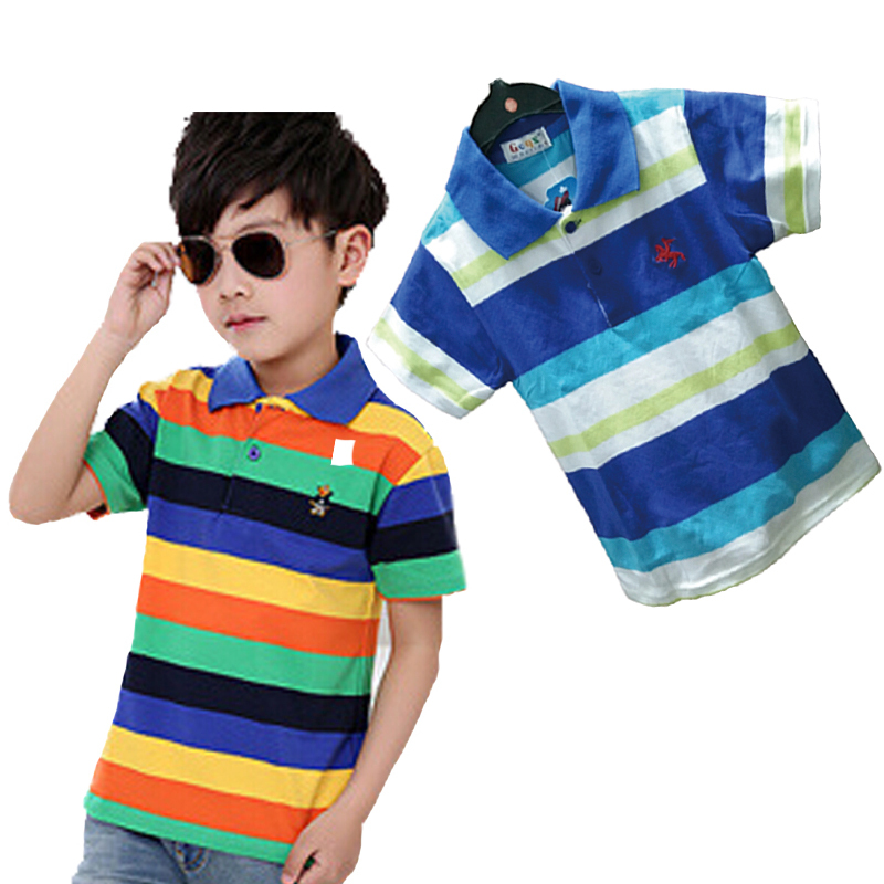 2015 Summer casual style baby boys Polo shirts striped Polo shirts 100% cotton short-sleeve lapel shirt children clothing DJ-014