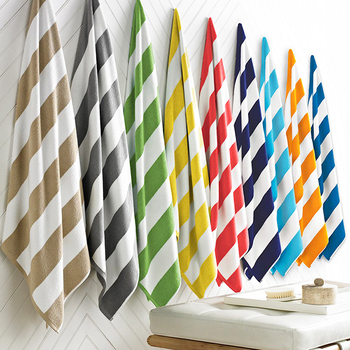 100 Cotton Cabana Stripe Custom Beach Towels Wholesale Buy Custom