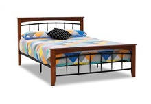Wooden frame metal bed design 3FT/4FT/5FT