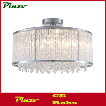 Dvp8511ch-cry Chrome Semi Flush Mount With Clear Crystals 6 Light ...