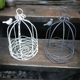 Small bird cage wrought iron hanging basket round iron net flower bracket iron hanging basket country home decoration