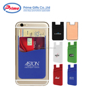 Custom Logo Printed Dual Pocket Slim 3M Silicone Smart Phone Wallet