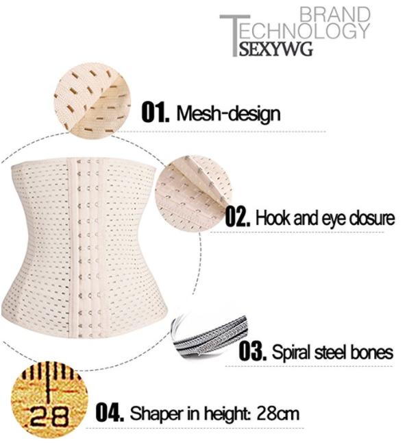 Factory price waist corset women shaper cincher trainer belt belly slimming belt