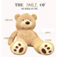 Life size huge plush teddy bear unstuffed plush animal skins