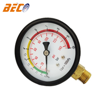 Beco high quality 60mm 10bar air compressor pressure gauge 1 year warranty