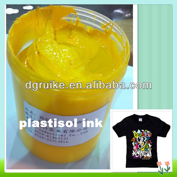 No solvent based screen printing plastisol ink for T-shirt textile