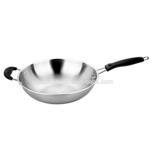 Double play SS nonstick flat Dosa Tava happy call stainless steel fry pan without lid,flat griddle pan