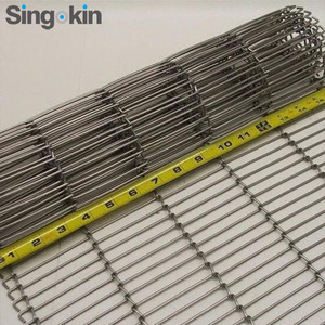 Stainless Steel Mesh flat flex wire conveyor belt for sale