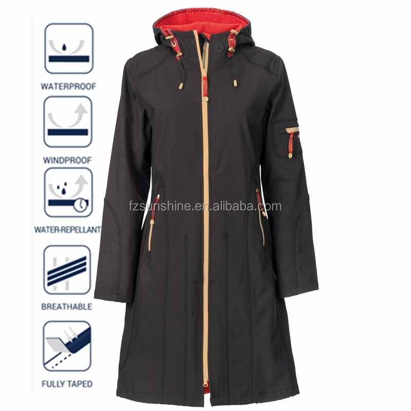 3/4 Length Softshell Raincoat for motorcycle riders