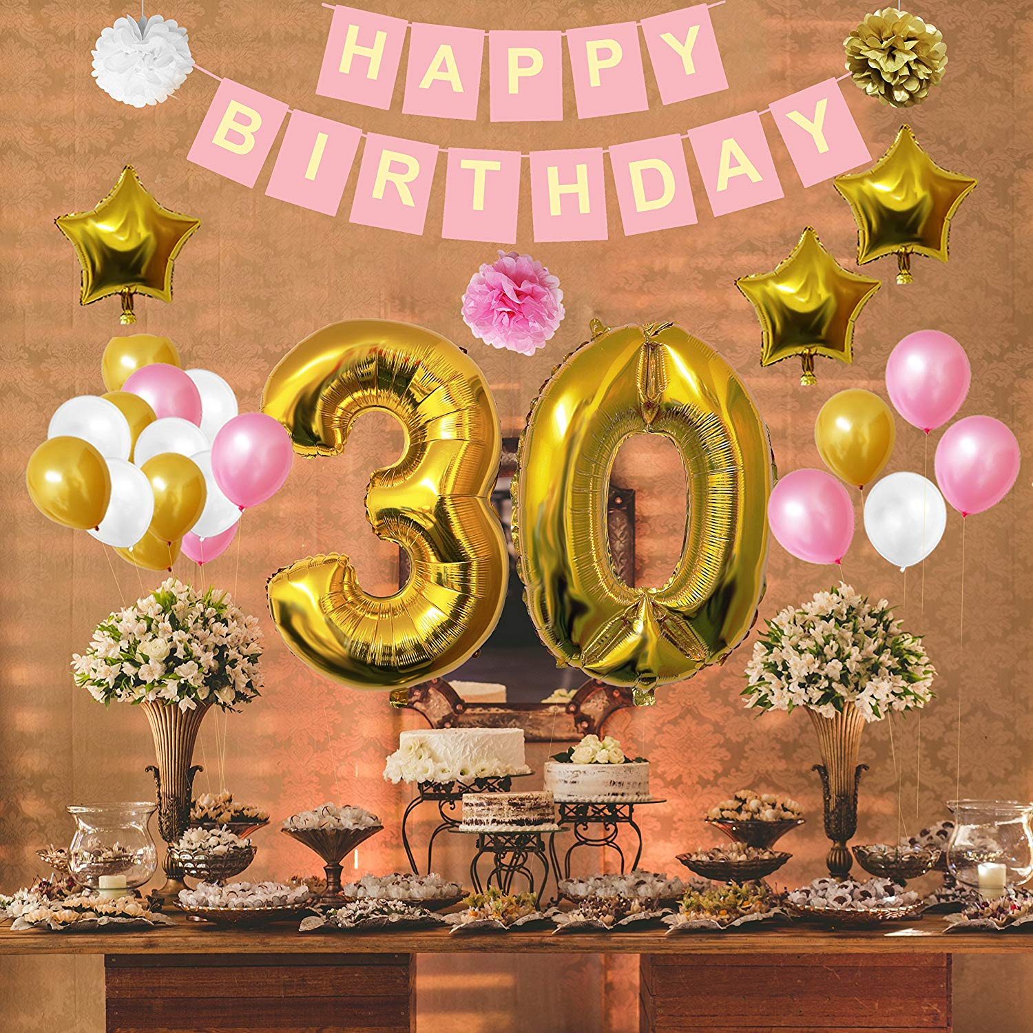 Buy 30th Happy Birthday Party Balloons Supplies Decorations By