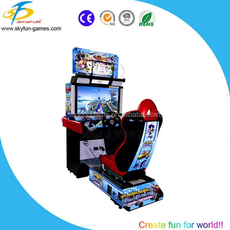 2016 popular car racing game machine arcade game machine for young man