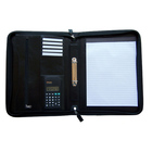 Conference file folder business portfolio with retractable handle