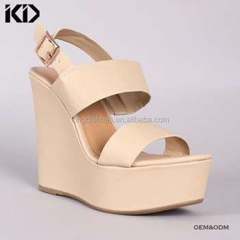9bd3ea918b6 Wedge High Platform Sandal Shoes Wide Width Heel Dressy Sandals ...