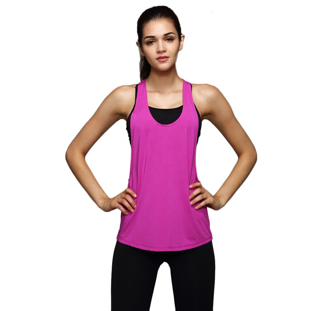 90% polyester 10% spandex high quality four way stretch fabric moisture wicking dry fit <strong>women</strong> <strong>tank</strong> <strong>tops</strong> workout