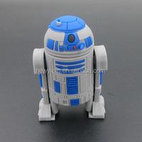 3D PVC Robot USB 2.0 Memory Stick Flash pen Drive 4GB 8GB 16GB 32GB USB Memory Stick