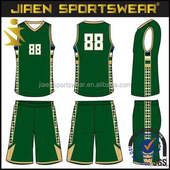 9c3a45cfb3c factory custom basketball jersey uniform design green fast delivery team  basketball uniform