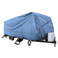 3-ply blue color poly fabric all weather protection travel trailer RV cover