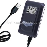 Portable USB thermometer hygrometer data logger