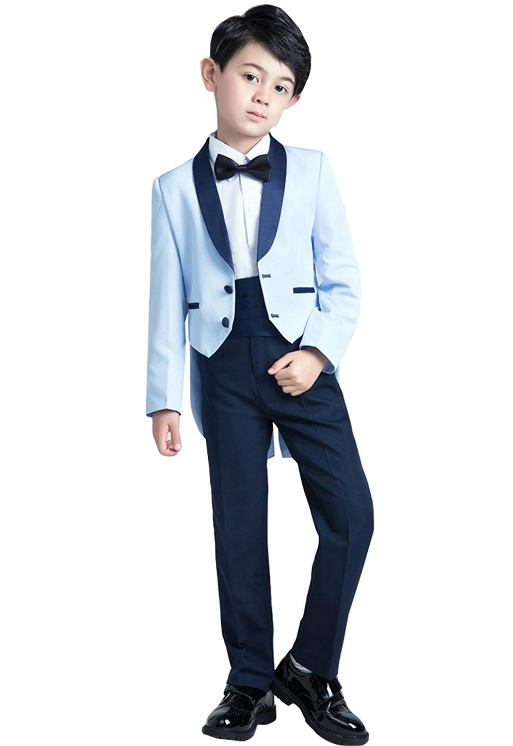 yeoyaw 2018 Boys New Design Formal Slim Fit Suits Set Jacket Short Pants 2T-14 Wedding Party Ceremony