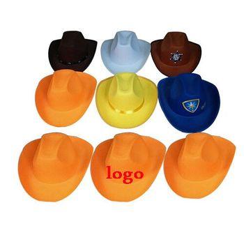 Più nuovo Arrivo Progettare Il Proprio Arancione Cappello Da Cowboy Blanks f05377684dea