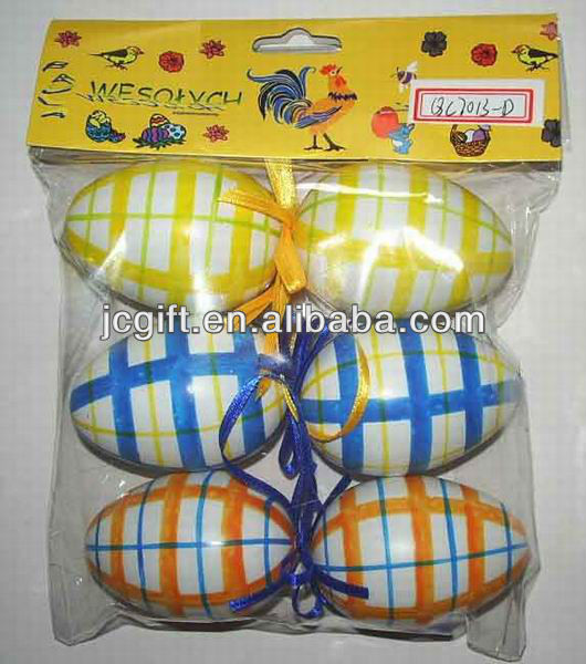 2016 hot sell plastic decoration Easter eggs