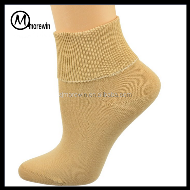 2016 Morewin Amazon suppier 100 cotton black white socks Ankle Turn Cuff Seamless Toe for man