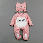 2017 spring romper combed cotton anime baby clothes