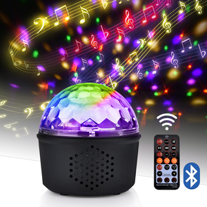 Bluetooth Audio Crystal Magic Disco Ball Light LED Stage Night Lights Birthday Holiday Christmas Party Effect Light