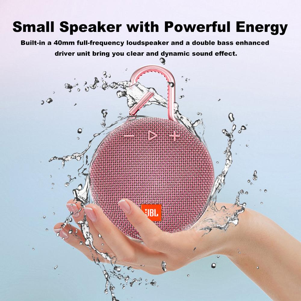 JBL Clip 3 Portable Waterproof Wireless Bluetooth Speaker Mini Outdoor Sport Colorful Black Gray Red Blue BT Version 4.1 Speaker