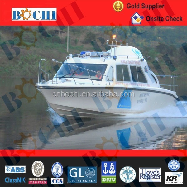 CE Certificate 30 Feet River Ambulance Boat