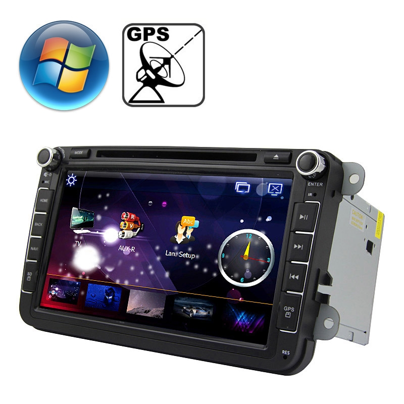 Newest 8.0 inch Windows CE 6.0 TFT Screen In-Dash Car DVD Player for Volkswagen with Bluetooth / GPS / RDS