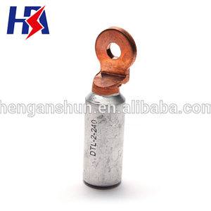 High Quality Double Holes Bimetal Cable Lugs Brazing Copper Aluminium Connector Terminal