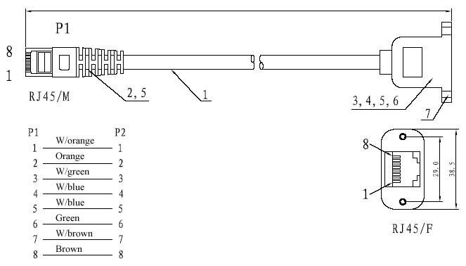 bulkhead rj45 extension cable cat5 cat6 panel mount lan cable patch cord