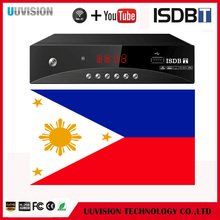 Support WiFI and Youtube Philippines OEM Shenzhen Set Top Box ISDB-T Digital TV Receiver with Ali3S11 / MSTAR-MSD7805