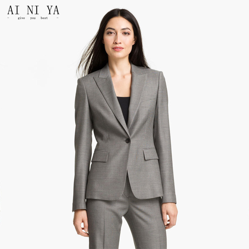 Us 84 15 Off Women Pant Suits Female Office Uniform Formal With Blazer Set Womens Business Style In