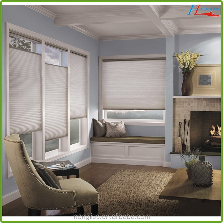 Motorized pleated blind/plissee blind/ honeycomb blinds
