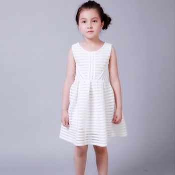 Hollow Cotton Fabric Girl Dress Patterns Flower Girl Dress Of 9