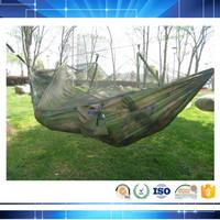 customize logo camouflage parachute hammock with mosquito netting