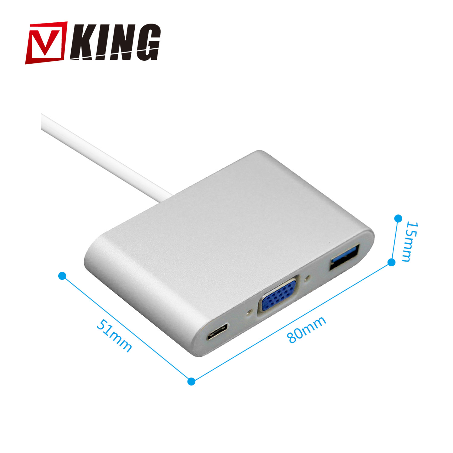 2018 high quality 3in1 multiport type usb c to usb 3.0 VGA HUB converter adapter