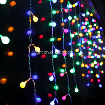 multi color led curtain lights copper wire led christmas light