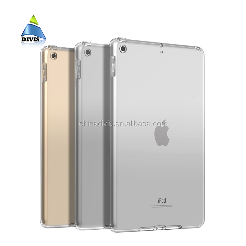 Ultrathin Tablet Case Silicone Crystal Clear Back Cover Bublle Free TPU Bumper For iPad 2 3 4 9.7 inches